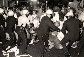 "As the police brutalized the protesters at the 1968 Democratic Convention, the protesters chanted ""The whole world is watching""...."