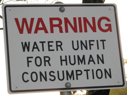 water unfit for human consumption