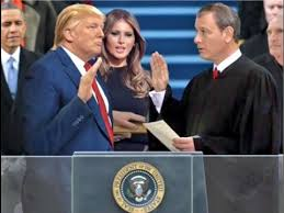 Image result for president trump being sworn in