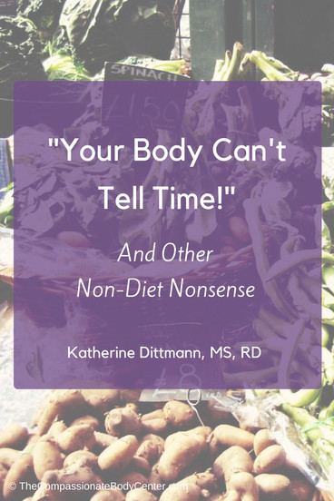 Non-diet, make peace with food, intuitive eating