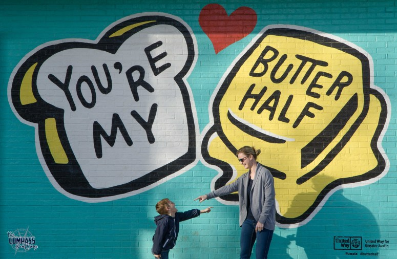 You can't resist the urge to snap a photo in front of this cute mural! A can't miss in Austin