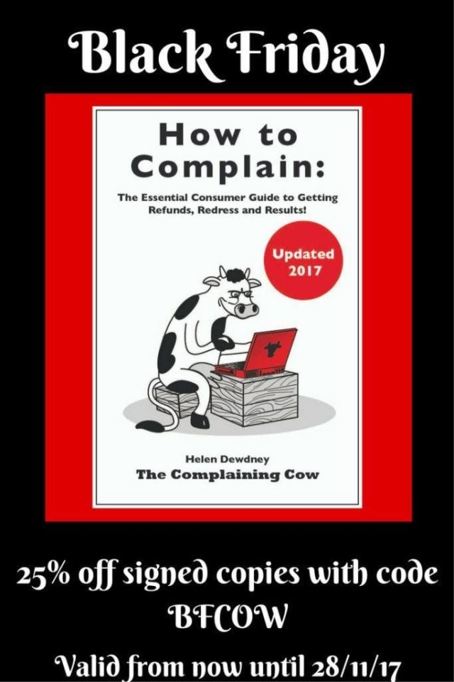 25% off How to Complain The essential Consumer Guide to Getting Refunds, Redress and Results code BFCOW valid until 28/11/17