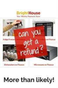 electrical items can you get a refund - more than likely