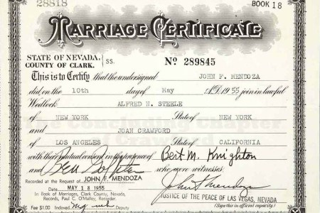 Contemporary Marriage Certificate Nevada Ideas - Online Birth ...