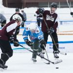 The Budmen And White Park Hockey Club Battle It Out On Saturday At The Black Ice Pond Hockey Tournament At White Park The Budmen Won 5 2 Geoff Forester The Concord Insider