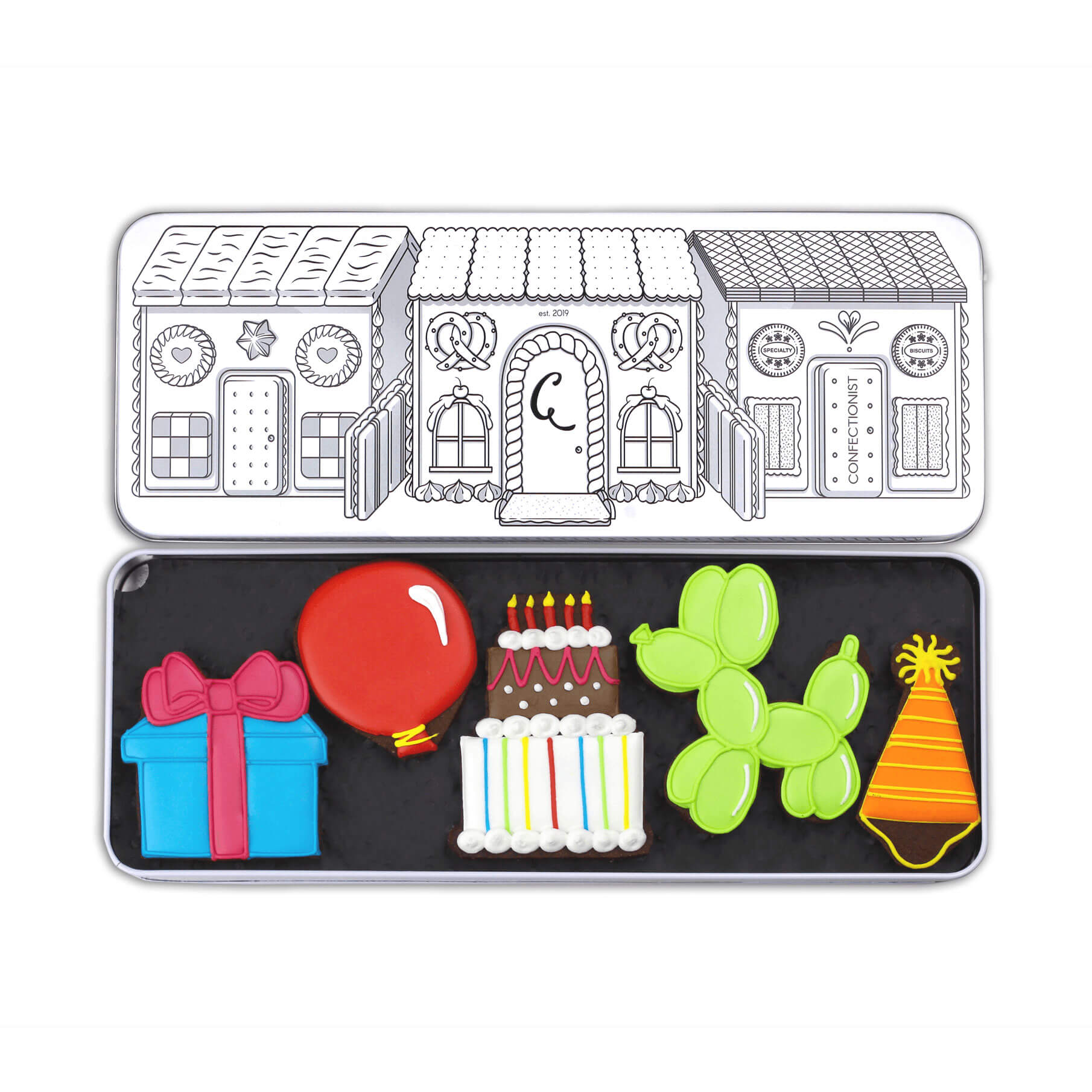 Birthday Biscuits Set in Tin