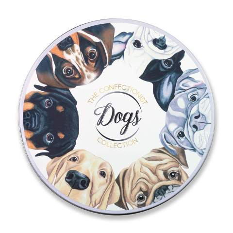 Dogs Sugar Cookie Collection Tin Lid