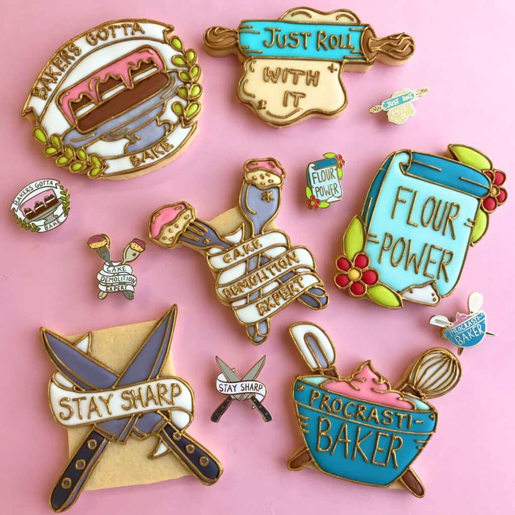 personalised pin biscuits
