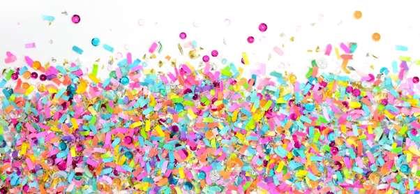 The Confetti Bar signature confetti style