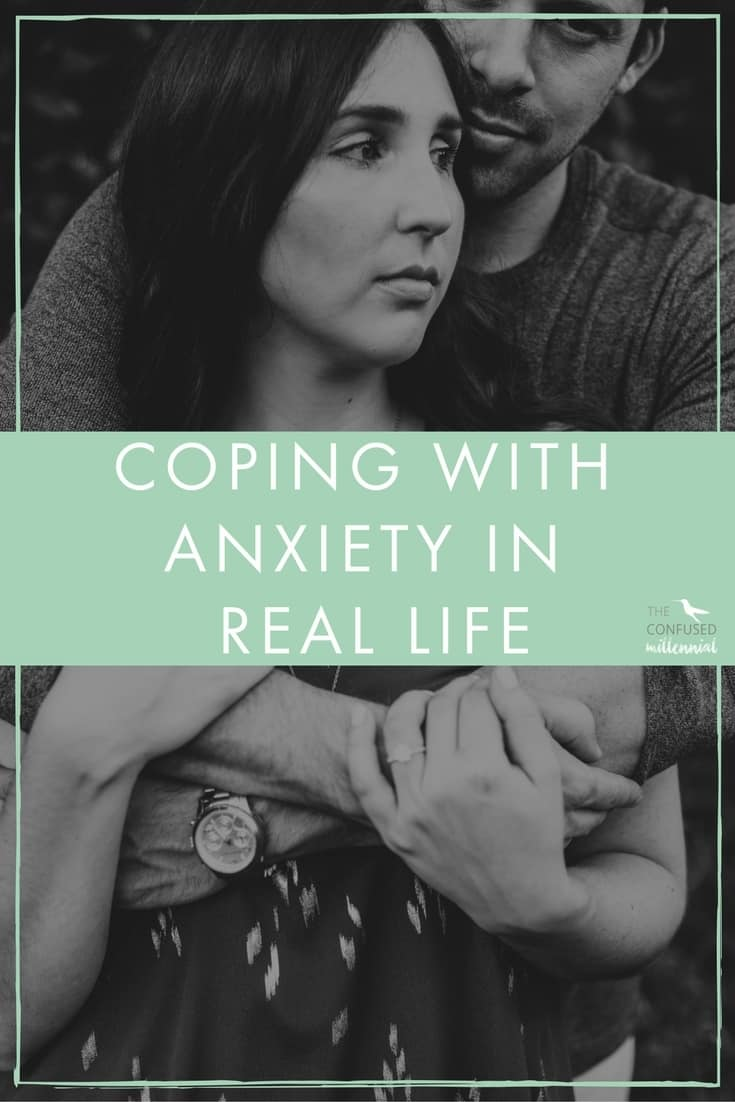 Are you struggling with anxiety or depression? How do you cope with anxiety in real life with real responsibilities pulling at you? I share my real life experience on coping with anxiety and depression since childhood, in college, and into adulthood. - The Confused Millennial