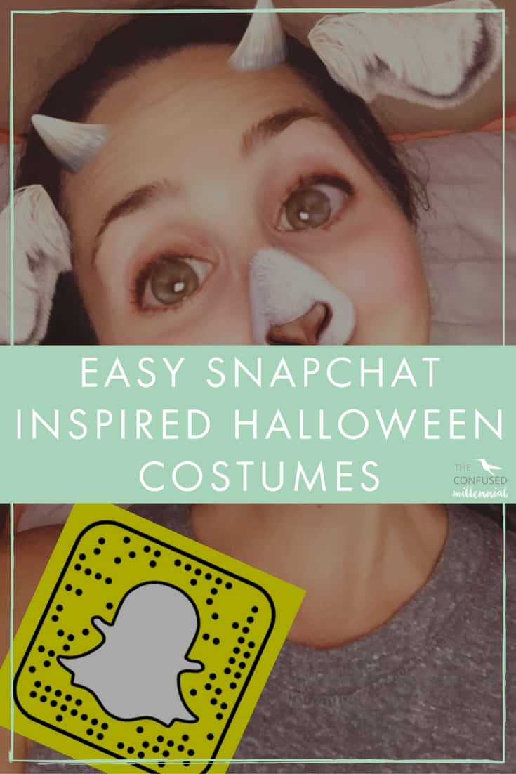 Snapchat filter costume, easy last minute halloween costumes, cheap halloween costume