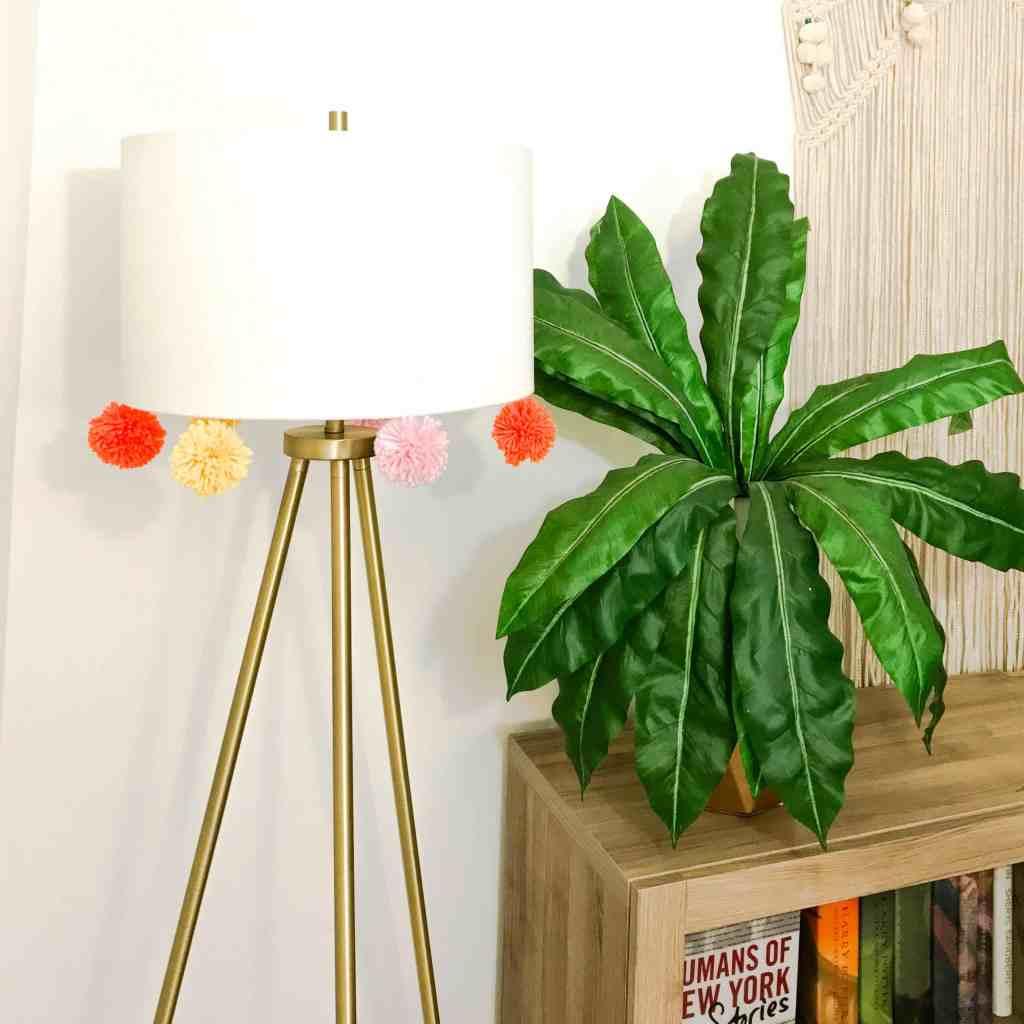 How To DIY a Pom Pom Lamp