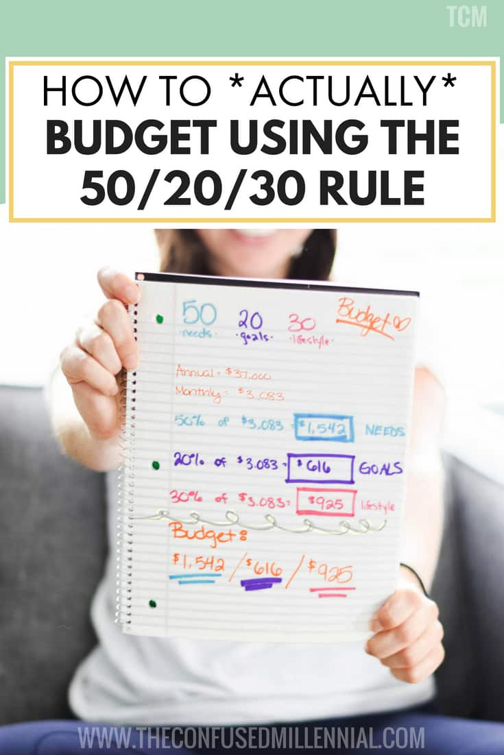 How To Actually Budget Using The 50/20/30 Guideline, tips and ideas for budgeting in your twenties, how to plan your personal finance money, #budget, #budgeting, #502030, #personalfinance