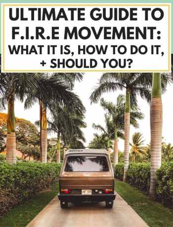 Ultimate Guide To The F.I.R.E Movement: What It Is, How To Do It, + Should You?, financial independence retire early infographic for saving money in life for retirement with passive income and healthy personal finance tips, #earlyretirement, #retireearly, #firemovement, learn how to retire early, what is the fire movement, how to do F.i.r.e, should you try to retire early?
