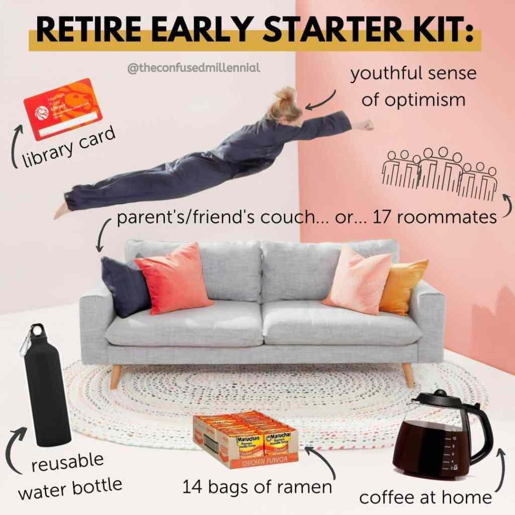 f.i.r.e. movement financial independence retire early starter kit, financial memes, fire meme, finance memes