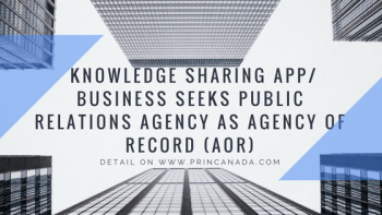 Knowledge Sharing App2F Business Seeks Public Relations Agency
