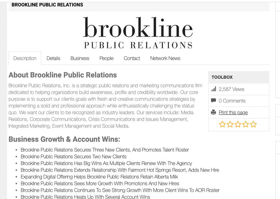 Brookline Public Relations Profile