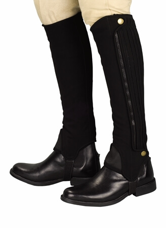 TUFFRIDER GRIPPY NUBUCK HALF CHAPS ADULTS - TALL