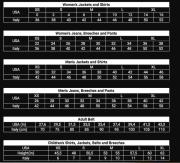 Animo Size Chart