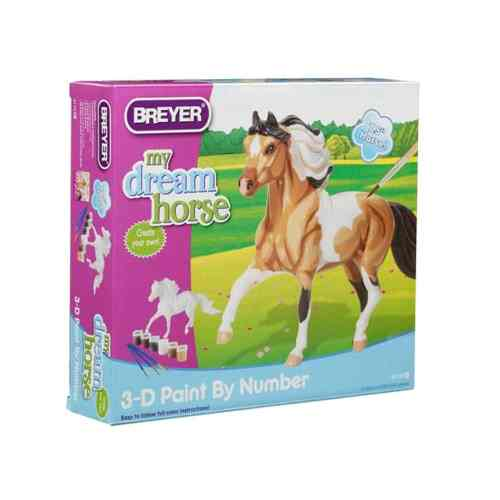 Breyer Model Horse 3-D Paint by Number Pinto