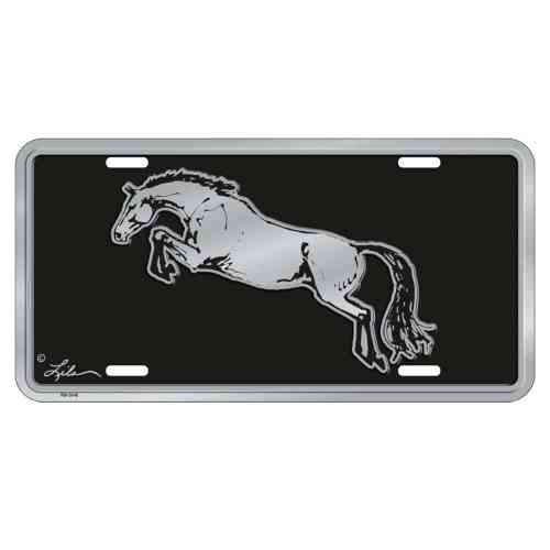 Embossed Jumper Horse License Plate