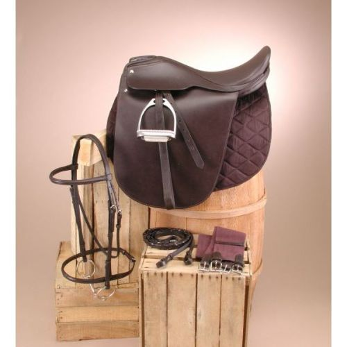 EquiRoyal Liberty Lane Fox Smooth Seat Show Saddle Package