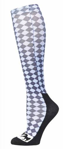 Equine Couture Padded Boot Socks Argyle Print