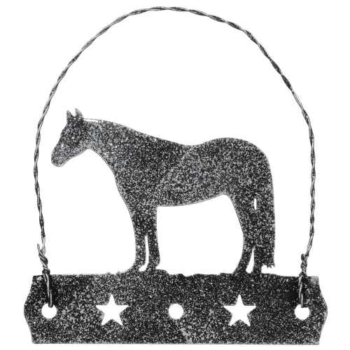 Equine Motif Ornament with Glitter Finish