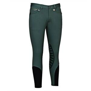 George Morris Rider Knee Patch Breeches DUCK GREEN