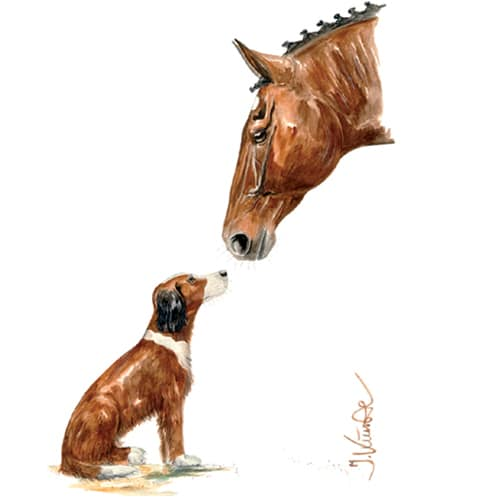 Jan Kunster Horse Prints - Friends 2 (Horse and Dog)