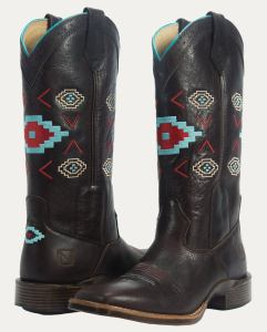 Noble Outfitters Womens All Around Square Toe Aztec