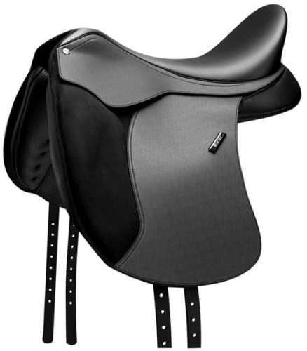 Wintec 500 WIDE Dressage Flock Saddle Black