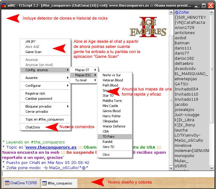 Muestra del chat gratuito que se pueden bajar como alternativa que ofrese un mayor servicio que el de la pagina