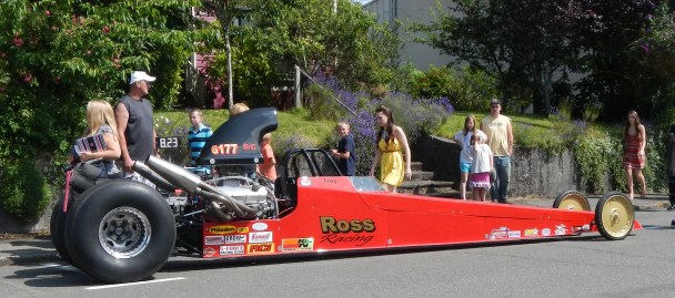 Red Dragster Car Show