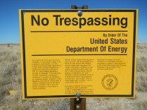 Department of Energy NoTtrespassing