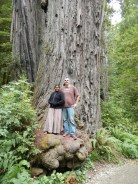 Us on the base of a Coastal Redwood Stout Grove