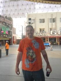 Ken happy on Fremont St Las Vegas NV