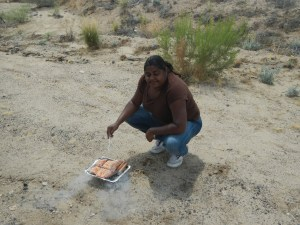 cooking on the Roadside - Road Trip from Las Vegas to El Paso