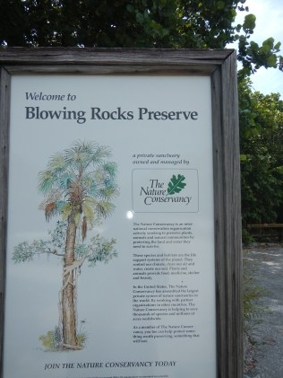 Description of Blowing Rocks Jupiter Florida