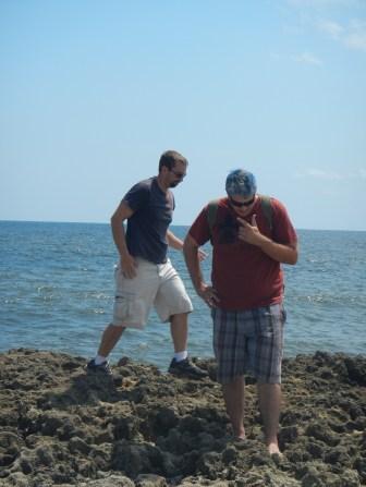Brett and Ken climbing