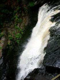 One of several waterfalls at Bushkill Falls