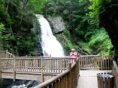 Lauren enjoying the main falls at Bushkill Falls