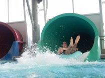 Kenin coming down the water slide