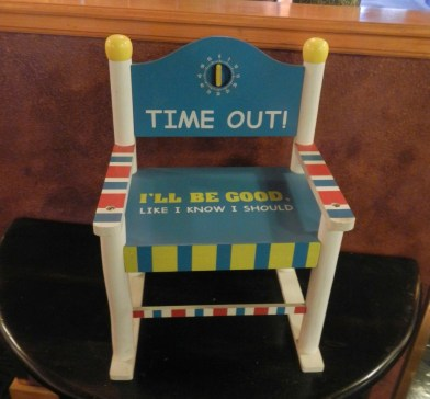 Timeout Chair at Pikes Waterfront Lodge Fairbanks Alaska