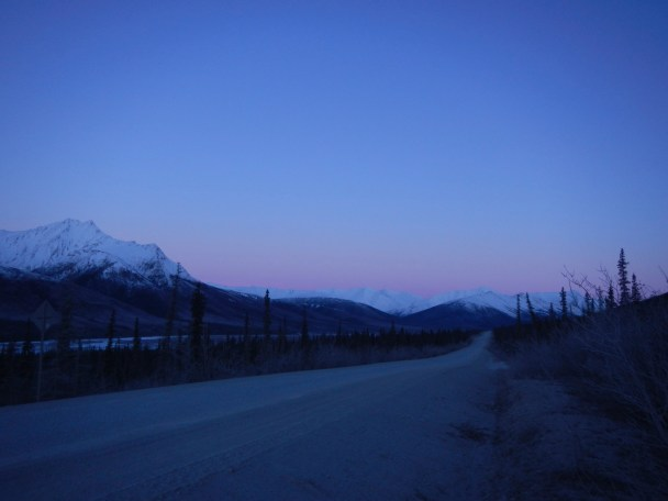 The Dalton Highway as the Sun Rises