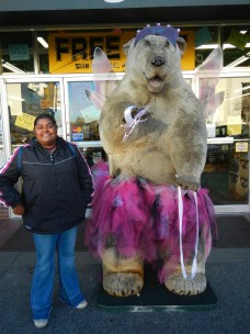 Lauren with Bear in Anchorage