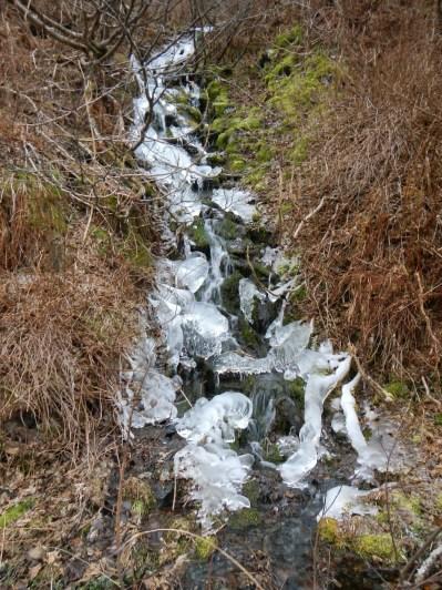 Waterfall beginning to freeze