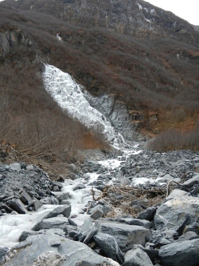 Waterfall Along Mineral creek trail Valdez Alaska