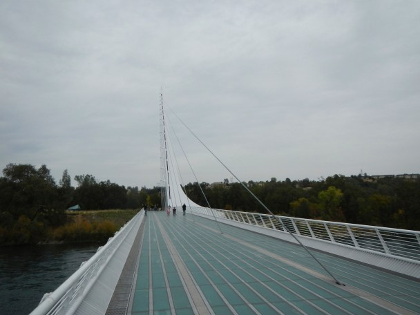 Sundial Bridge over the sacramento River Turtle Bay Redding CA