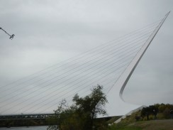 Profile of the Sundial Bridge Redding CA